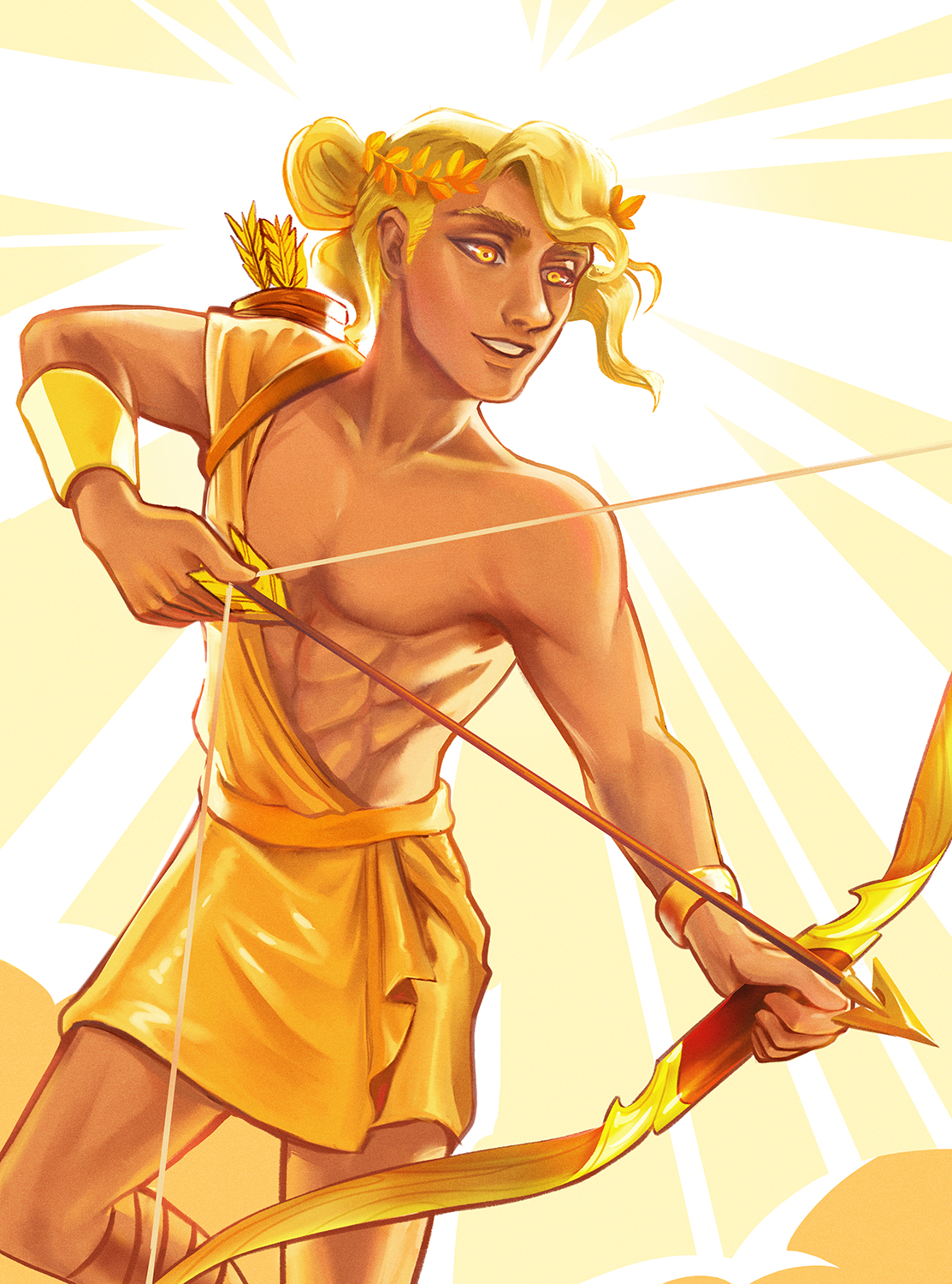 Apollo Is The Greek God Of Sun Poetry Music Archery And Prophecy His Parents Are Zeus Leto Artemis Twin Sister