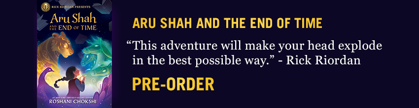 ARU SHAH AND THE END OF TIME Pre-Order link and book cover