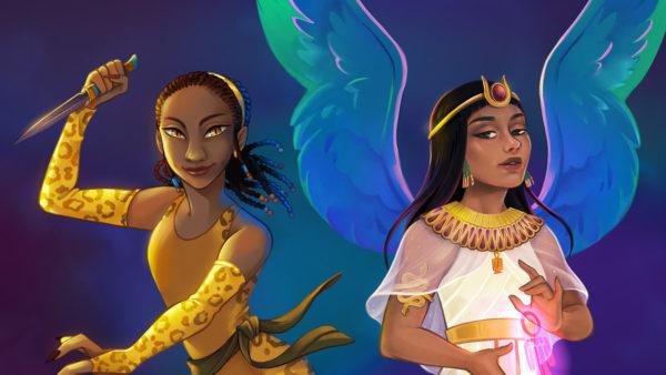 Egyptian gods banner