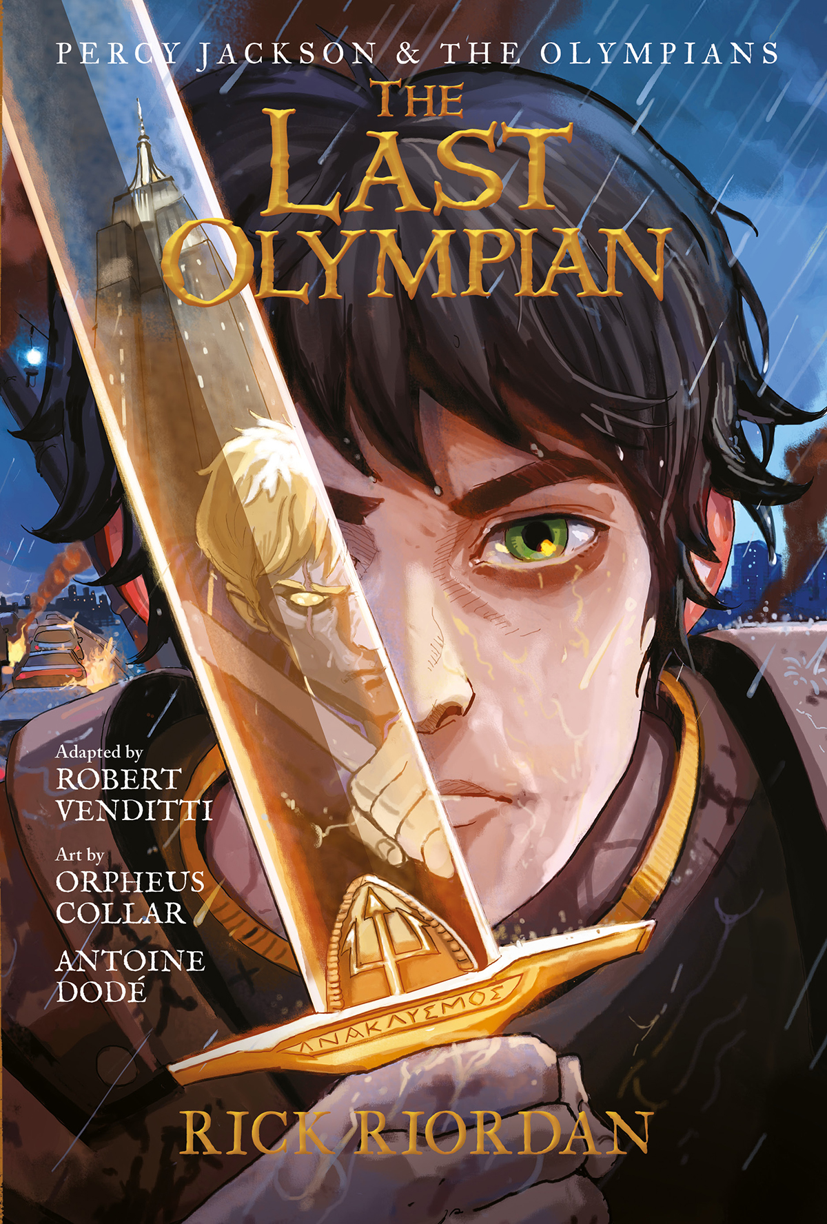 The Last Olympian Graphic Novel cover