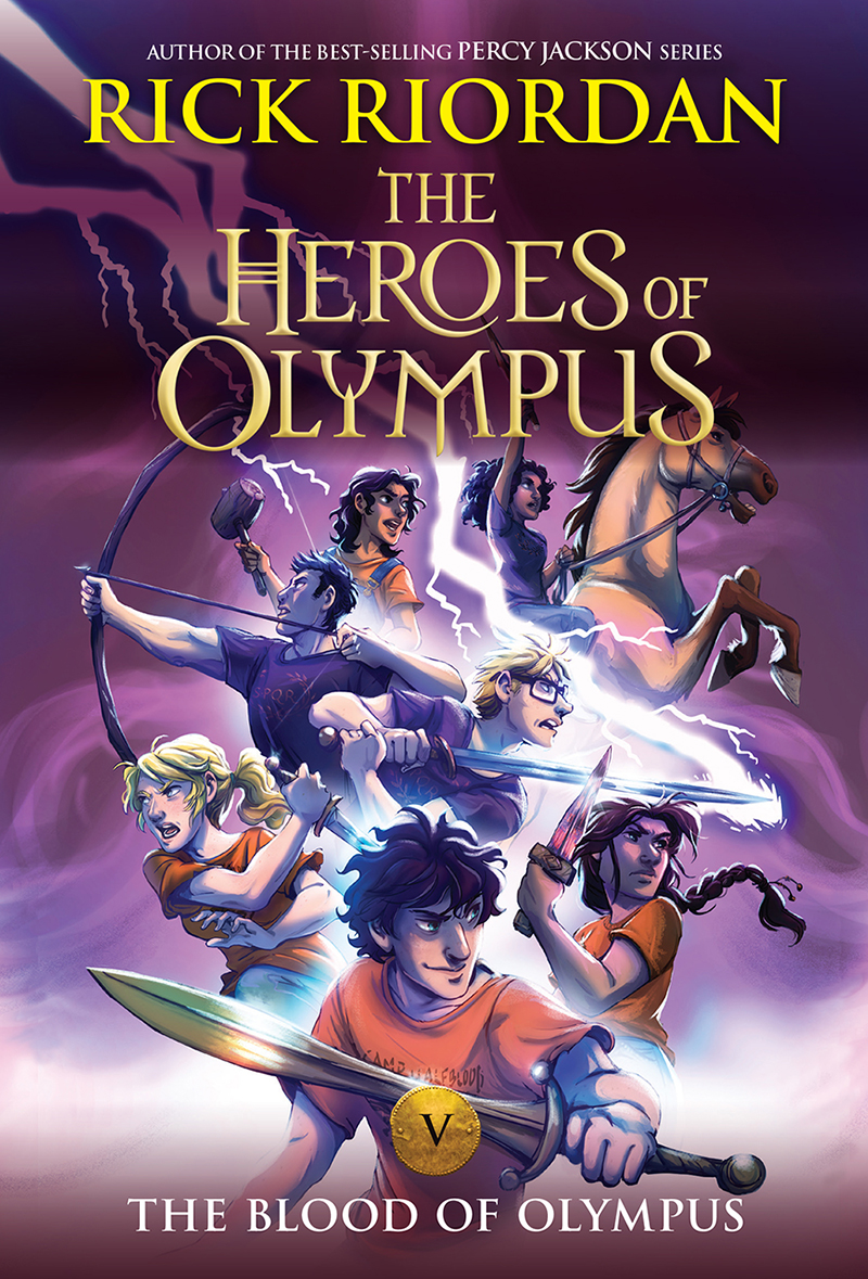 The Blood of Olympus New Cover