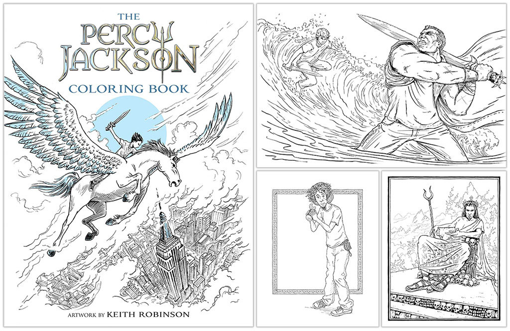 Behind The Book The Percy Jackson Coloring Book Illustrated By